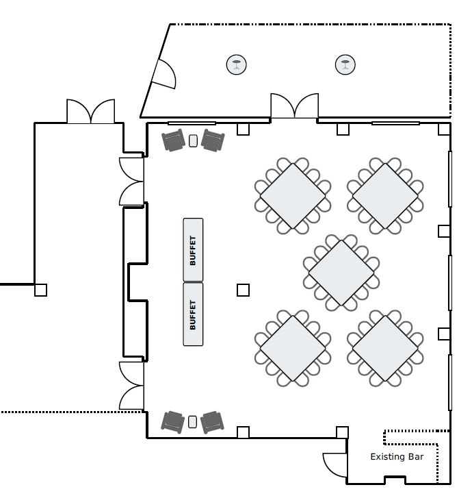 Social Set Floor Plan