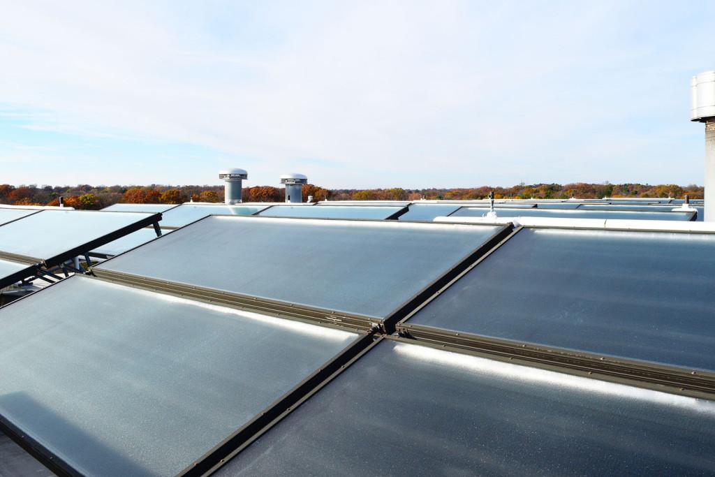 Solar Panels at Proximity Hotel