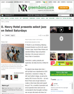 """O.Henry Hotel presents Select Jazz on Select Saturdays"" Go Triad, October 2015"