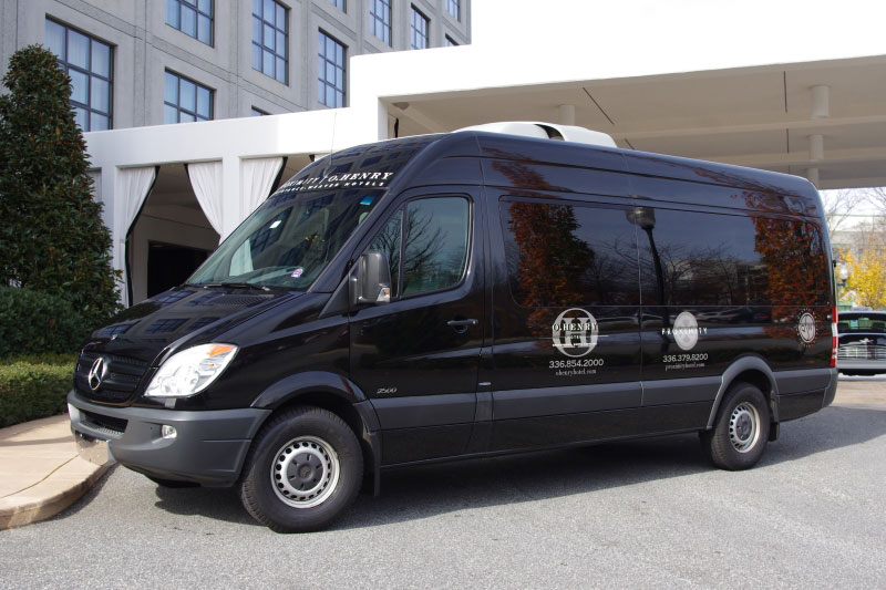 Mercedes Sprinter at Proximity Hotel in Greensboro NC