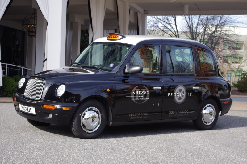 London Taxi at Proximity Hotel in Greensboro, NC