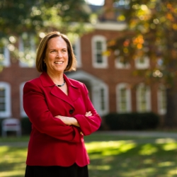 President of Guilford College, Jane Fernandes
