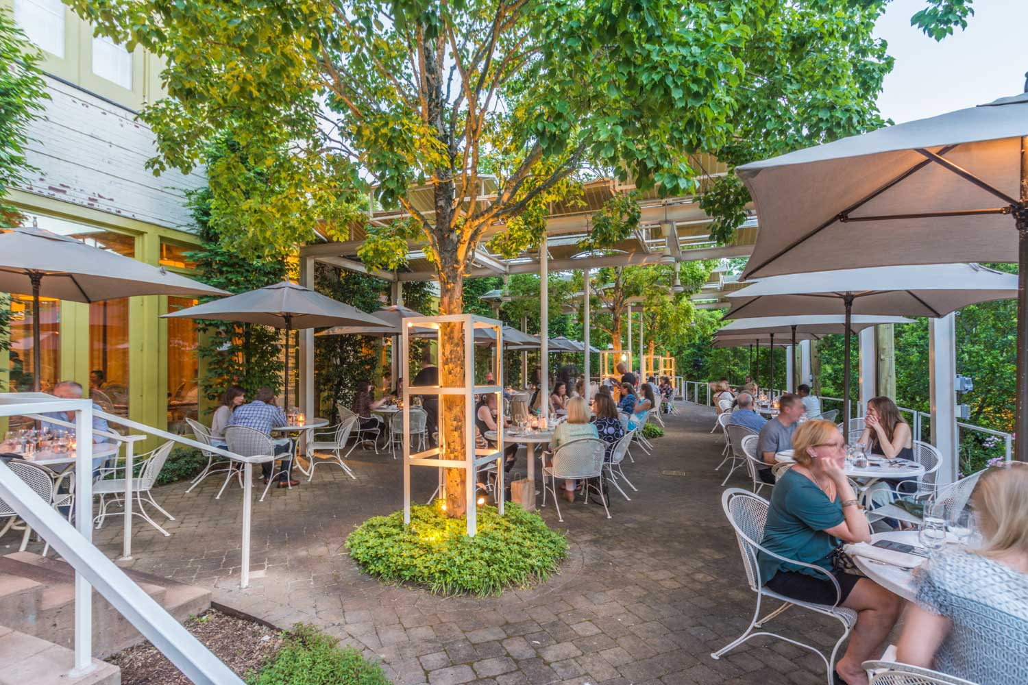 Print Works Bistro Creekside Terrace