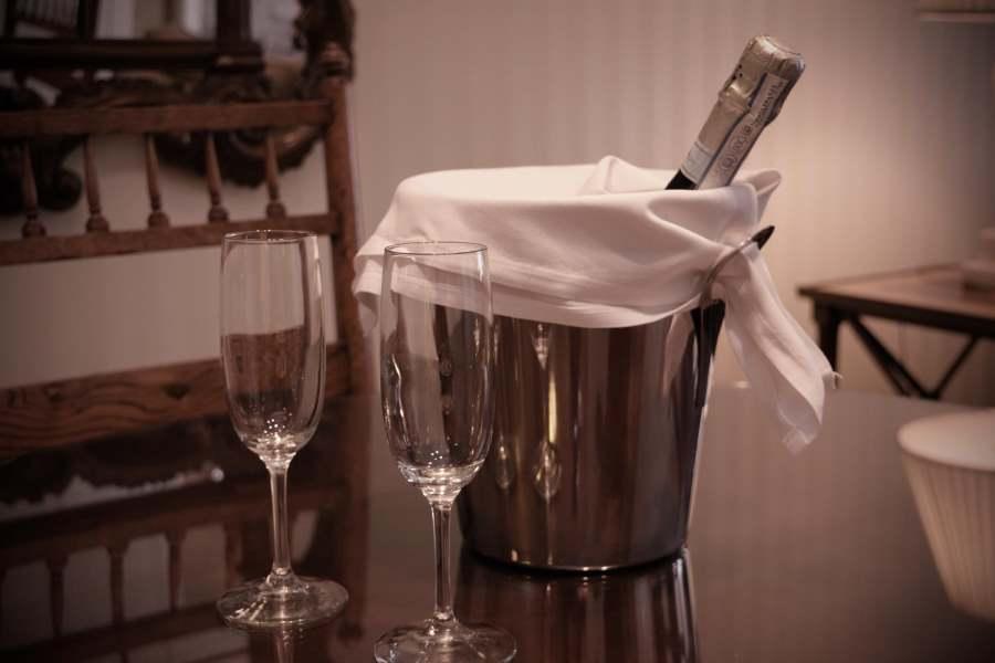 Wine in Hotel Room