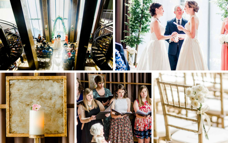 Proximity Hotel Wedding - Sarah and Catherine wedding ceremony