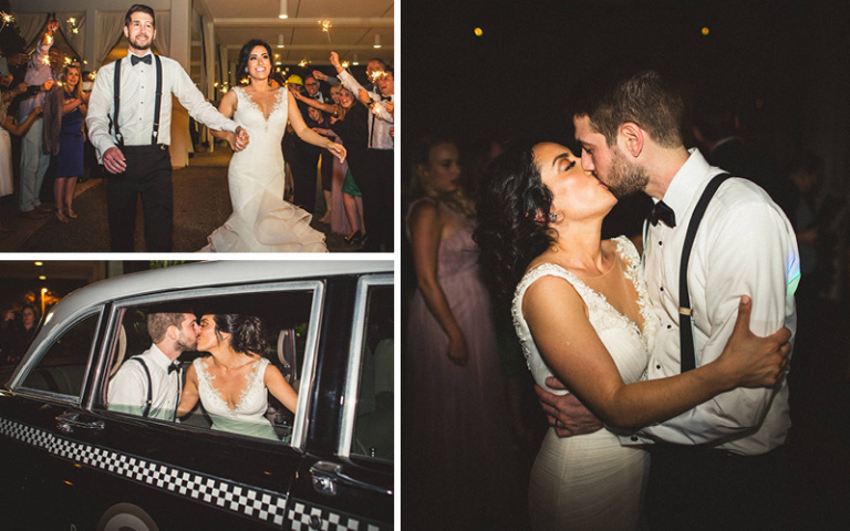 Christina and Danny Dream Wedding at Proximity Hotel, The Grand Exit in Checker Cab