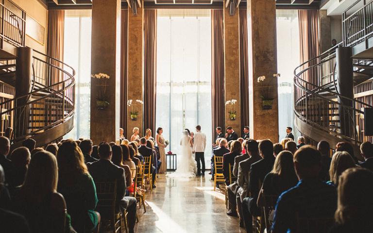 Christina and Danny Dream Wedding at Proximity Hotel Ceremony in Social Lobby