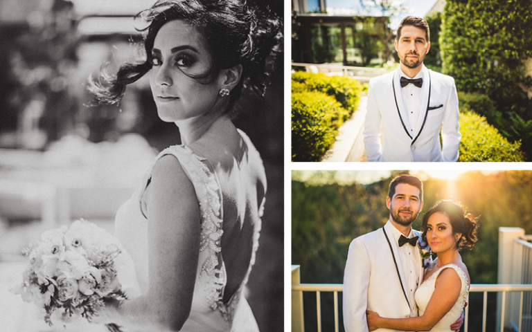 Christina and Danny Dream Wedding at Proximity Hotel. Bride and Groom Portraits