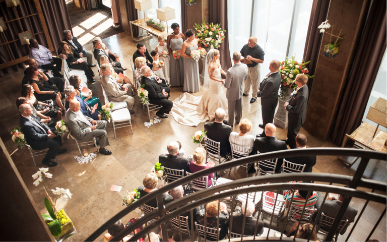Proximity Hotel Wedding, Whitney and Dustin, wedding ceremony