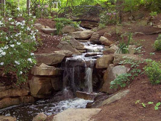 Serenity Falls at the Bog Garden