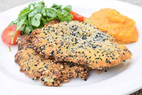 Sesame Crusted Crispy Chicken